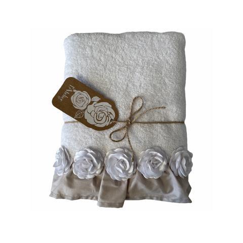 Asciugamano bagno BIANCO set 2 pezzi