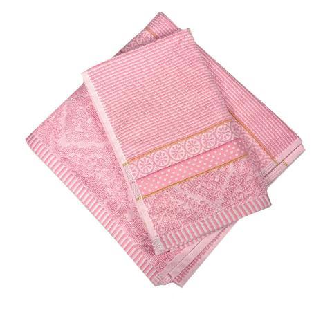 Asciugamano bagno set 2 pezzi rosa
