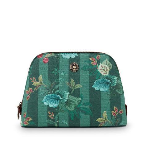 Beauty case righe verde Pip Studio
