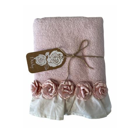 Asciugamano bagno ROSA set 2 pezzi