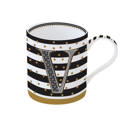 Tazza 350 ml in porcellana A LETTER FOR YOU V