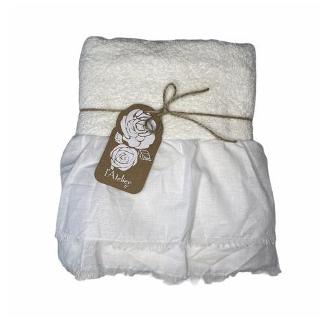 Asciugamano bagno AVORIO set 2 pezzi