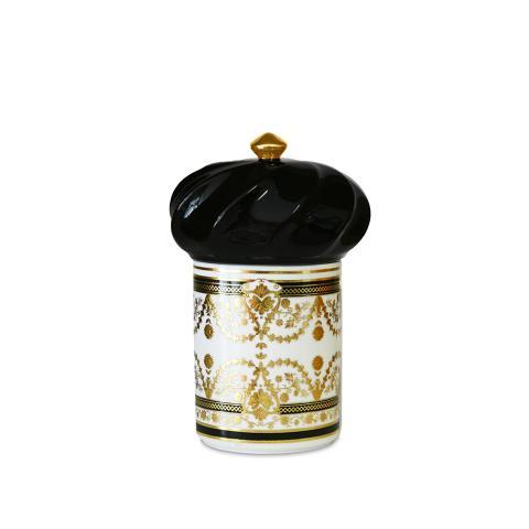 Porta oggetti midi Ø 11 cm H 17,5 cm Baci Milano nero