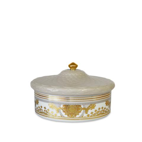 Porta oggetti maxi Ø 17,5 cm H 11 cm Baci Milano Gala/Living beige