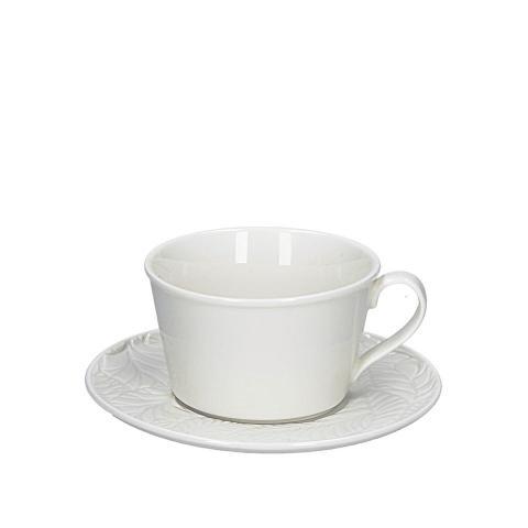 Set 6 pezzi tazza té con piattino