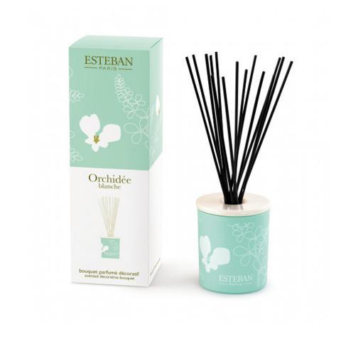 Orchidèe blanche - diffusore in ceramica profumo d'ambiente a bastoncini Esteban