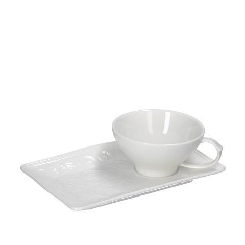 Tazza tè con vassoietto