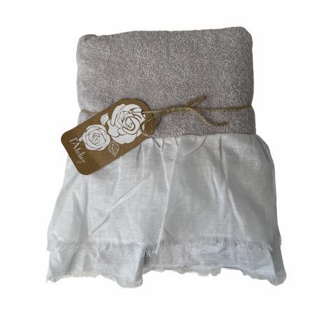 Asciugamano bagno GRIGIO PERLA set 2 pezzi