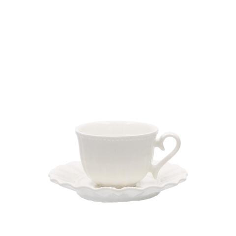 Set 6 pezzi tazza caffé con piattino